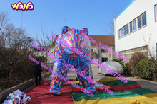 Colorful giant inflatable bear costume C-082