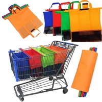 Custom 4 PCS one set Trolley Bags Eco Friendly Reusable Grocery Bags Shopping Carts Detachable Foldable bag