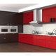 Modern Red Brown Painting RTA Kitchen Board,Flat Pack Kitchen Cabinet