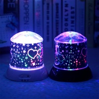 Cartoon Winnie The Pooh Rotation Colorful Starry Sky Projection Night Lights