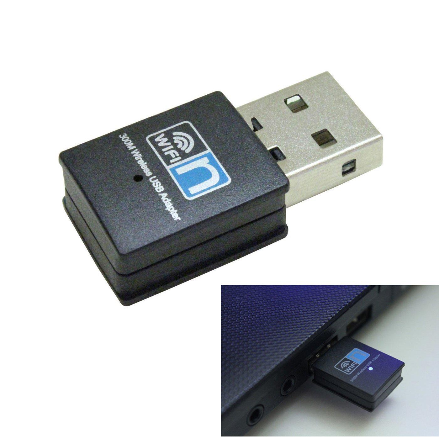 NewBull- 300Mbps Mini USB Wireless WiFi Adapter 802.11n/g/b LAN Internet Network Adapter Receiver