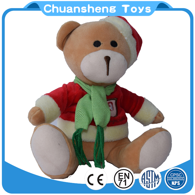 CHStoy wholesale mini christmas plush toy bear