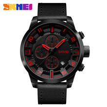 Casual wholesale Genuine leather wrist watches men water resistance