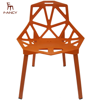 China Factory Popular Stacking Designer Colored Outdoor Plastic Chairs For  Sale