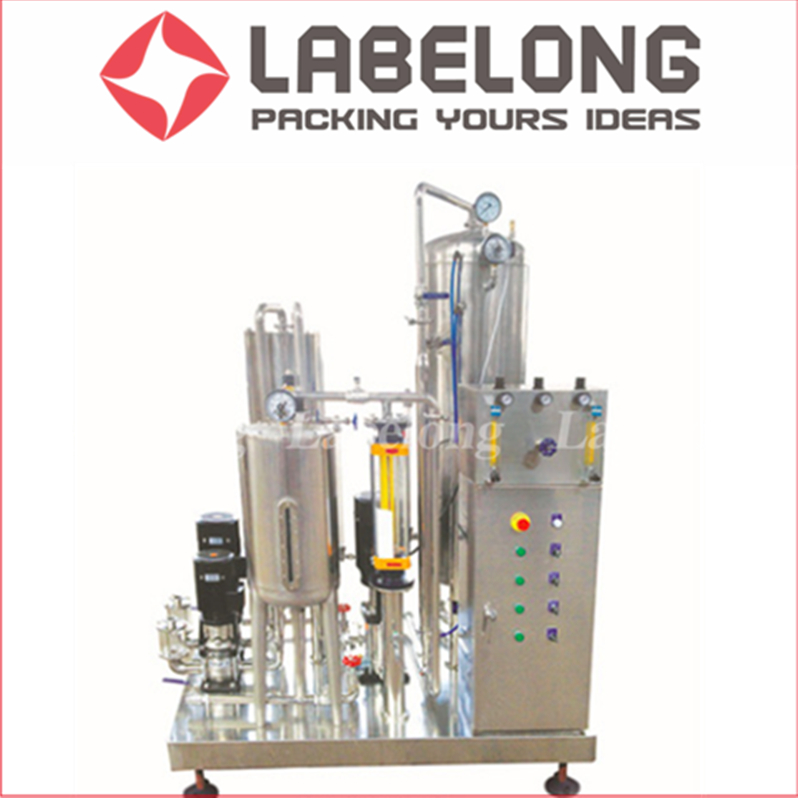Small Scale Carbonation Beverage Filling Machines For Glass Bottle