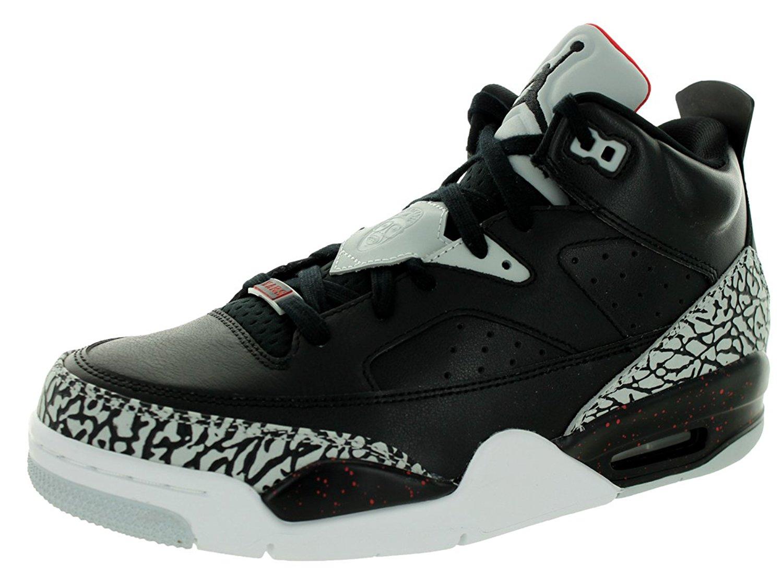 54fe8ed88b12 Jordan Mens Son of Low Black University Red Grey Mist Black 580603-