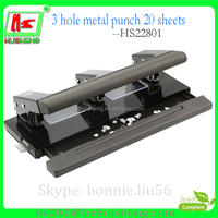 Professional custom log paper hole punch, 3 hole puncher for 20 sheets