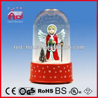 Wholesale Fantastic Snowing Christmas Angel Doll Decorated with Transparent Case Snowing Christmas Crafts
