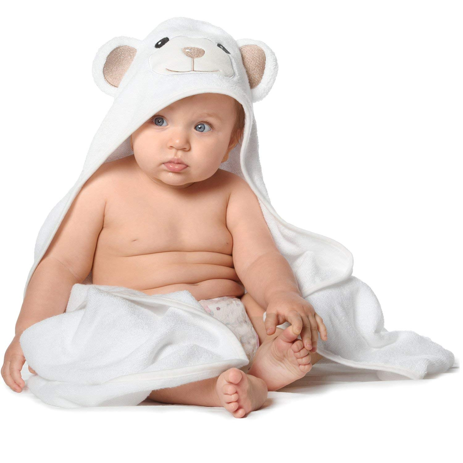 Wholesale Extra Soft Natemia Organic Bamboo Baby Kids Animal Hooded Bath Towel With Hood