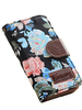 Beautiful Flowers Wallet Leather Carry Case Cover with Credit Card Holders Fit for Apple iPhone 6(Black), With Stand View Fun