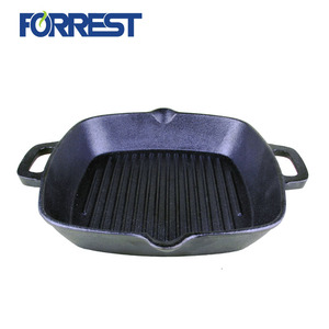 Pre-Seasoned Cookware Cast Iron Square Grill Pan