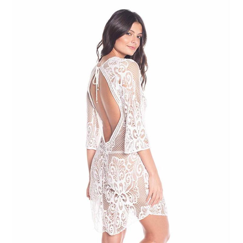 42ad4fb8be 2019 Summer Casual Beach Kaftan Backless Crochet Beach Wear Dress Fashion  Wholesale Women Kaftan High Quality