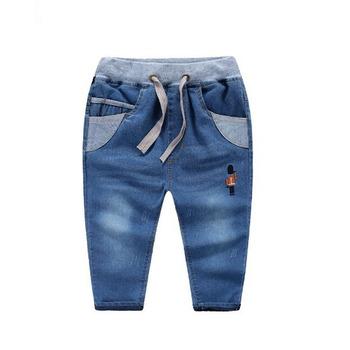 e975071d50 Tc8034 Corea Estilo Bordado Pantalones Niños Denim Jeans Pantalones ...