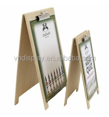 Wood Table Tent Card Holder Table Stand Menu Holder Chip