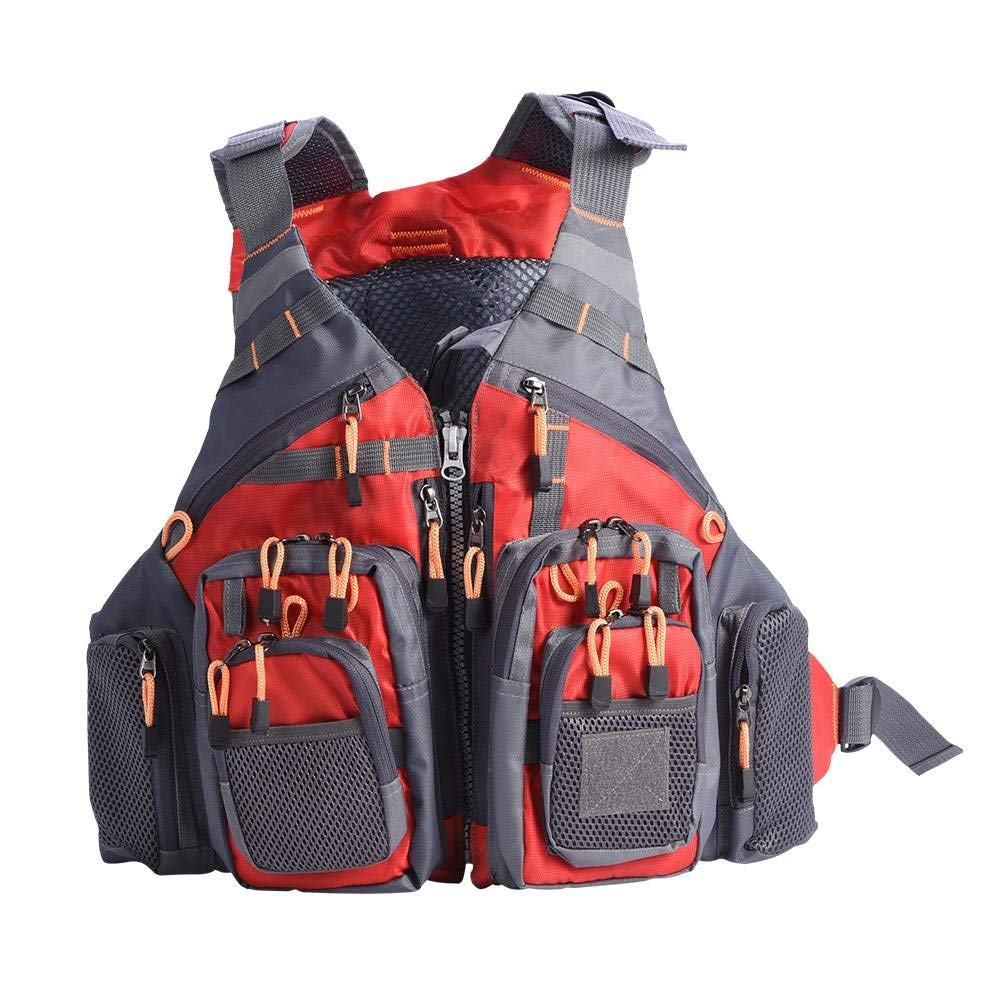 Life Jacket Vest, Adult Multi-function Lifesaving Waistcoat for Swimming Fishing Drift Suit