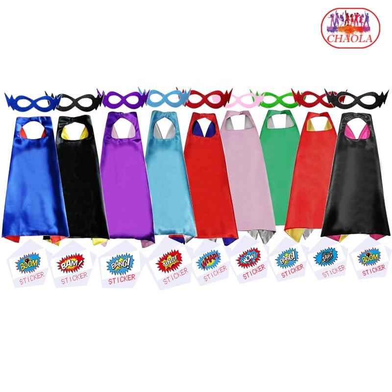 9 stijlen Sticker LOGO Superheld Capes voor Kinderen Super Held Kostuums voor jongens en meisjes Verjaardag Halloween Kerst