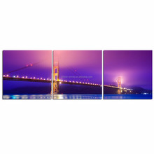 Stretched Canvas Wall Art Home Decor/San Francisco Golden Gate Bridge Poster/Modern Cityscape Canvas Art