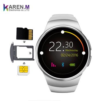 2018 Kw18 Smart Watch Heart Rate Monitor Wrist Pedometer Watch Round Screen  Camera Smartwatch Ce Rosh - Buy Kw18 Smart Watch,Watch Phone,Sim Card
