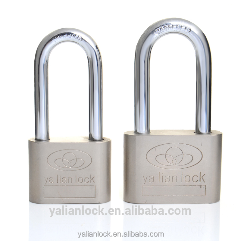 China-made High Quality Heavy duty Nickle Plated Big Round Corner Iron padlock
