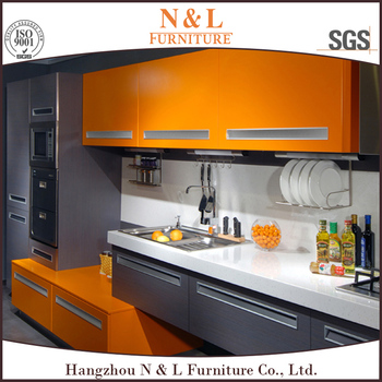 Newest Tempered Glass Finish High Gloss Kitchen Cabinets For ...