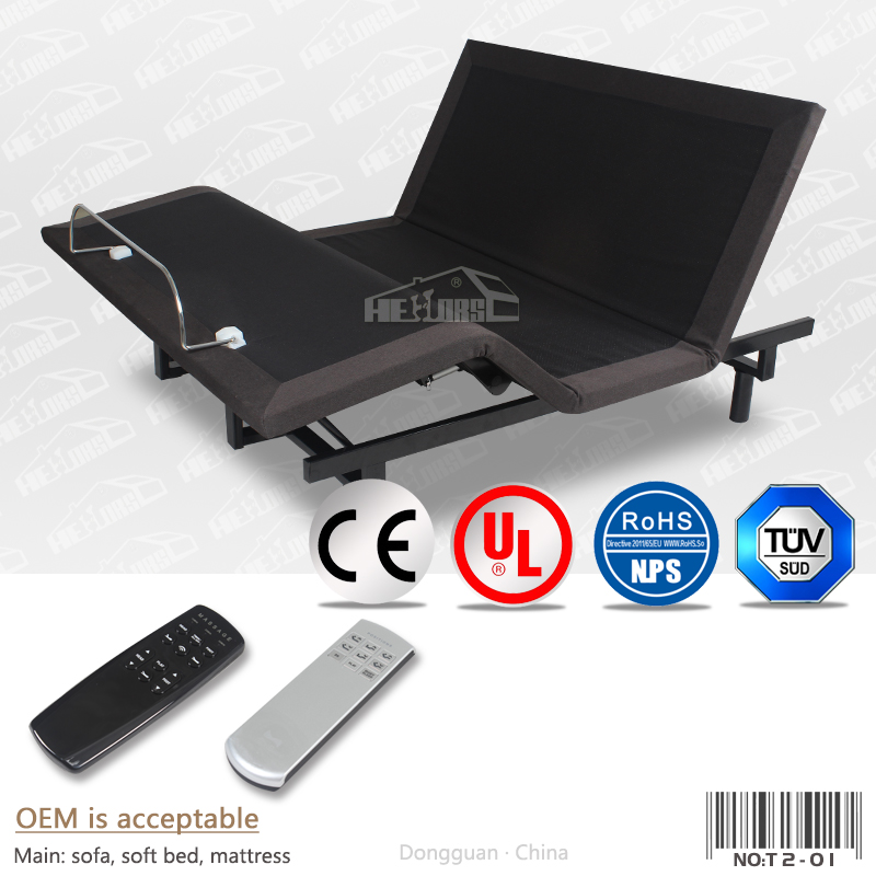 adjustable massage bed frame king size okin motor electric adjustable bed T02-1#