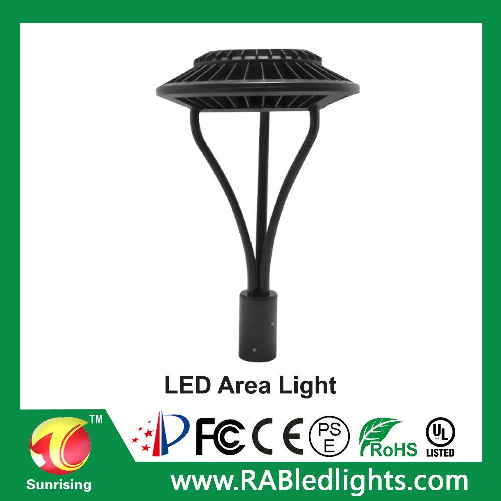 UL&DLC led circular area light 120W,outdoor LED street garden light lamp