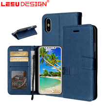LEEU DESIGN amazon hot selling custom phone case for cover iphone x with leather wallet