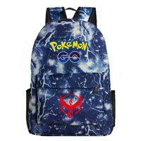 Pokemon Go cartoon game pattern luminous student backpack bag 0.45Kg