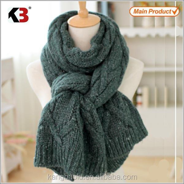 Oversized gebreide sjaal