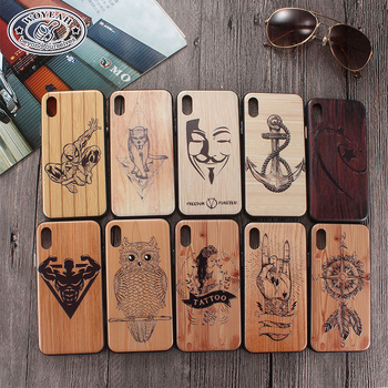 China Production Wholesale Relief Grain Waterproof Wood Cell Phone Case