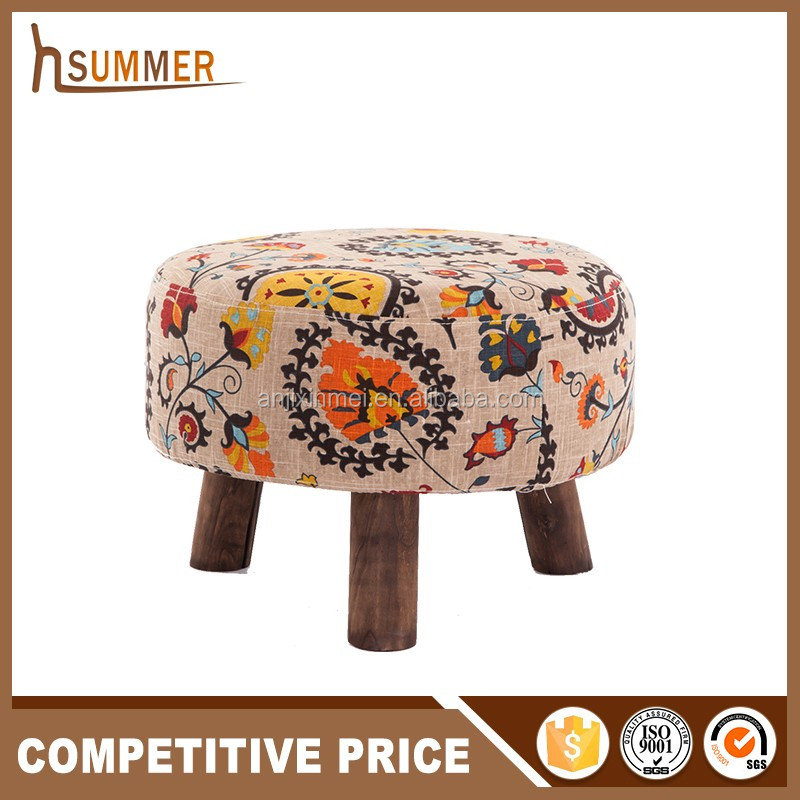 China Alibaba Wholesale Price Low Wooden Indian Foot Stool