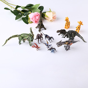 3d moving diy toy dinosaur animal puzzle