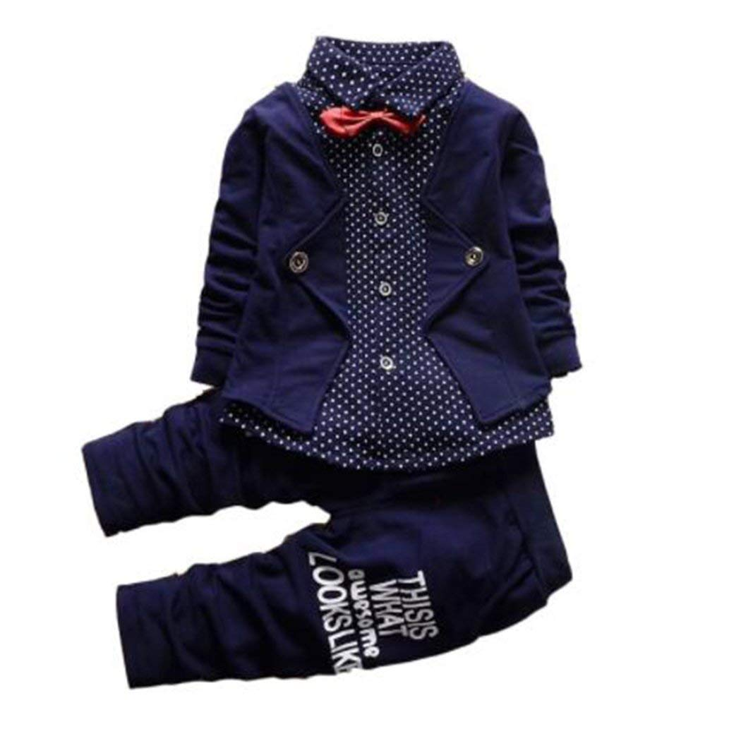 107d4b78c83 Get Quotations · JIANLANPTT Kids Baby Boys Casual 2 Pcs Pant Clothes Set  Formal Party Outfits