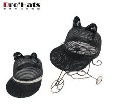 Custom black mesh fit running sports baseball caps with lovely ear muff