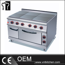 VNTK088 Commercial Kitchen Equipment Electric 4 or 6 French Hot Plates Cooker & Oven