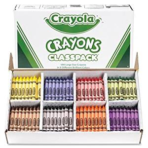 Crayola Classpack Crayons - Wax Color: Red, Blue, Yellow, Orange, Green, Purple, Brown, Black, Violet - 400 / Box