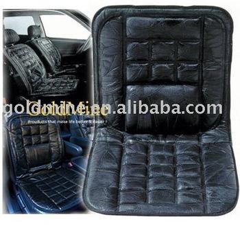 Leather Lumbar Cushion Patch Car Seat Mat