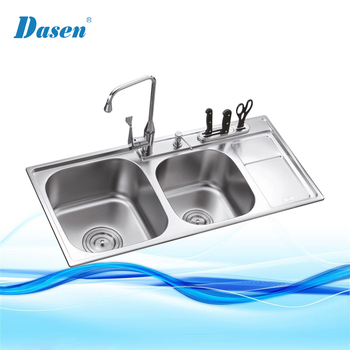 DS 9546 Customized Stainless Silicone outdoor kitchen bbq garden outdoor kitchen sink grinder washing Sink