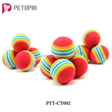Cute Rainbow Colorful Ball Pet Dog Cat Puppy Toys