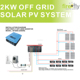 Single Phase Off Grid PV Solar Power System 2KW (800W~8KW Optional)