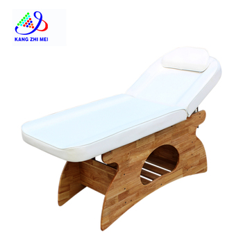modern beauty salon furniture wood jade massage bed for selling 8215