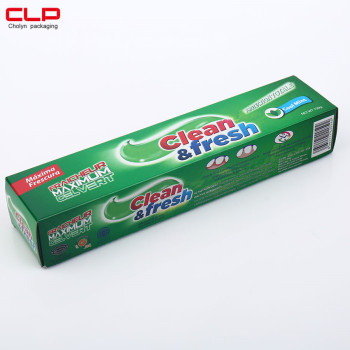 Custom Made Paper Packaging Box For Toothpaste