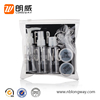8pcs toiletry 60ml cosmetic packaging petg bottle ps jar bathroom wash travel kit