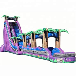 2018 guangzhou cheap giant inflatable water slide adult