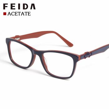 14b9711423c9 BC4466 FEIDA Children Clear Glasses Girls Boys Acetate Flexible Eyewear  Frames Kids Glasses Frames Optical Spectacle