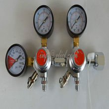 Double CO2 Dual Gauge Regulator with one Checkvalve, Homebrew CO2 Regulator, CGA320 water fittings homebrew