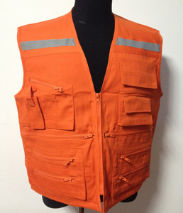 Reflective Stripe Workwear Safety Vest