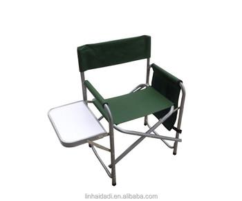 Alluminio esterno pieghevole sedia da regista con tavolo e tasca