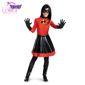 vende 2019 originale selezione speciale di Halloween Costumi Del Personaggio Per Bambini Incredibile Viola Ragazze Cos  Giocano Costume Di Carnevale Forniture - Buy Product on Alibaba.com