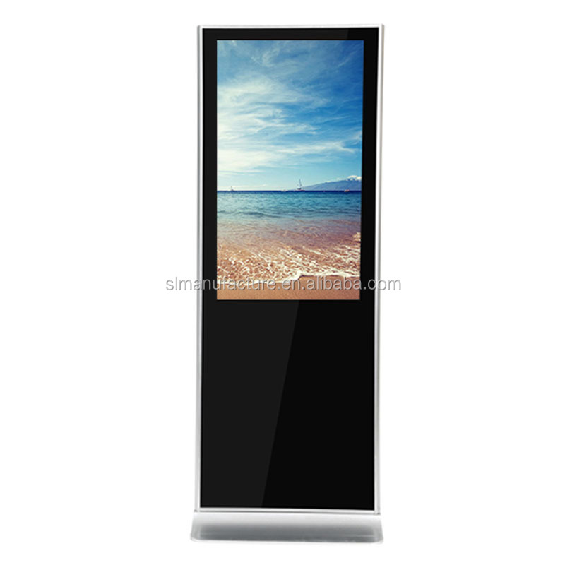 Interactive totem 55 touch screen kiosk with printer thermal vertical display TV